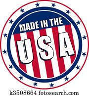 Made in the USA circular decal