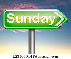 sunday sign