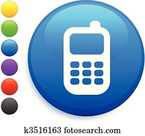 mobilfunk, symbol, auf, runder, internet, taste