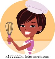 Woman Baker Chef African American