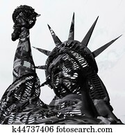 3D Rendering, 3D Illustration of the Statue of Liberty