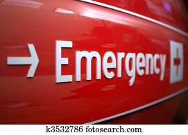 dringlichkeits zeichen, an, a, hospital.