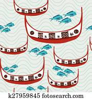 traditional fishing boat of Taiwan aborigines - Tao