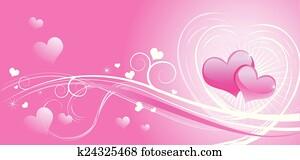 Valentine background wiht hearts
