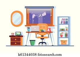 Home or office workplace interior design