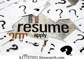 Resume and question mark