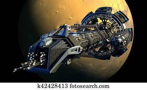 3D Space Shuttle Illustration