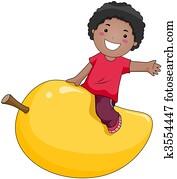 Boy on Mango