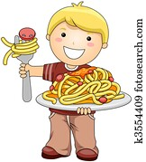 Boy with Spaghetti