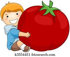 Boy with Tomato