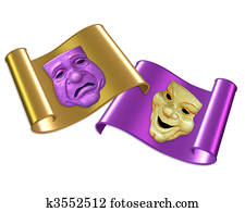 Comedy and tragedy masks