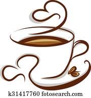 コーヒー アイコン クリップアート K6837407 Fotosearch