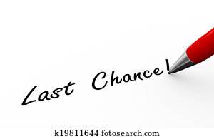 3d pen writing last chance illustration