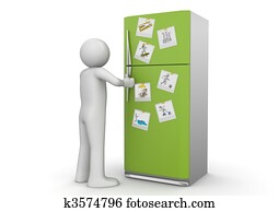 Lifestyle collection - Photos on refrigerator