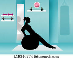 Pilates in the gym