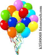 Celebration or birthday Party balloons