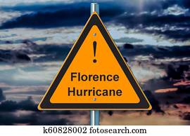 Hurricane Florence concept, 3D rendering
