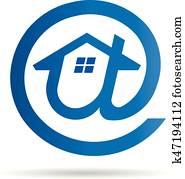 At Email Logo Symbol - House Idea