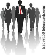 geschaefts, silhouette, leute, spaziergang, human resources