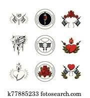 bundle of tatoos images icons