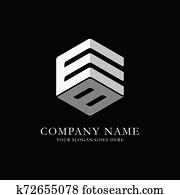 eb, sechseck, logo, design, inspiration