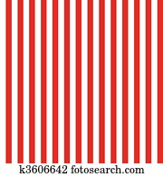 Stripe Seamless Pattern Red and White