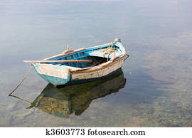 Cape Cod Row Boat and Reflection Stock Photo   k1646878