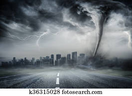 Tornado On The Business Road
