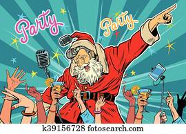 Christmas party Santa Claus singer