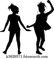 Joy silhouette children