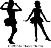 Silhouette children