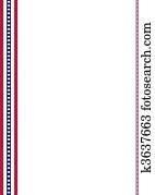 American Flag decoration strips