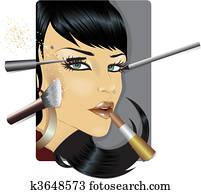 Vector illustration of a fashion mo