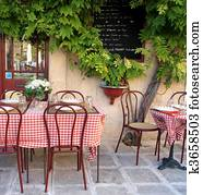 French cafe in Provence