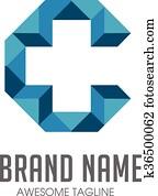 kreativ, buchstabe c, kreuz, logo