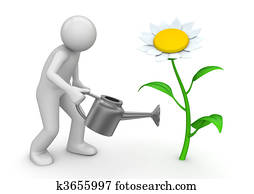 Nature collection - Gardener with watering can