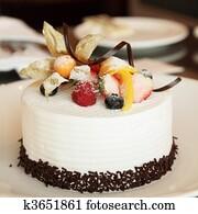 White Cream Cake