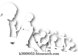 Book club cutout