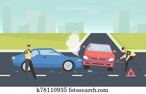 Car Accident Background