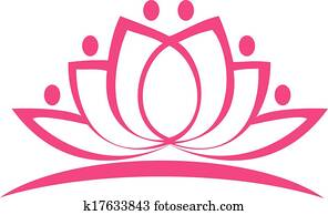 Stylized lotus flower logo