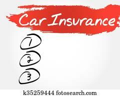 car insurance blank list