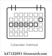 Contraception method - ovulation calendar