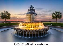 Pineapple Fountain of Charleston