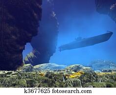 underwater submarine