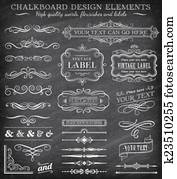 Vector Vintage Chalkboard Labels an