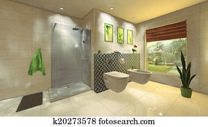 Immagini ovale freestanding bagno in moderno bagno con