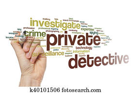Private detective word cloud
