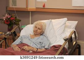 hospitalized senior
