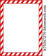 Red Peppermint Candy Stationery, Frame, Border