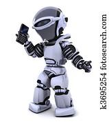 robot with smart phoine
